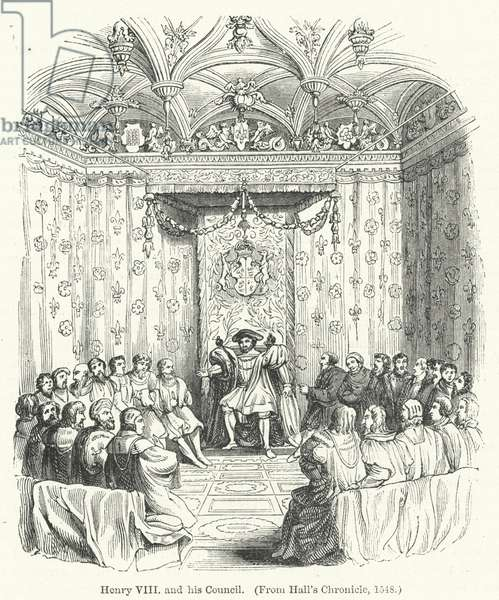 Henry VIII and his Council (engraving)