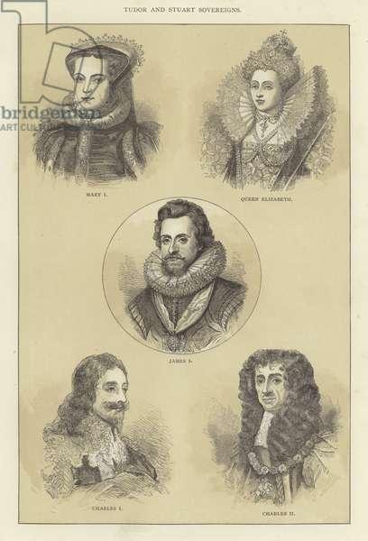 Tudor and Stuart Sovereigns (engraving)