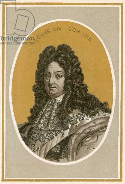 Louis XIV (colour litho)