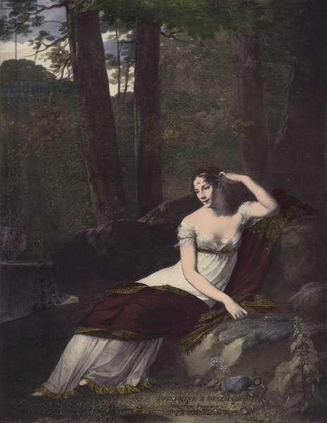 Josephine a Malmaison (colour litho)