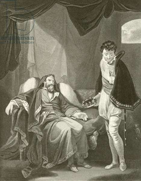 Henry IV reproving Prince Henry (engraving)