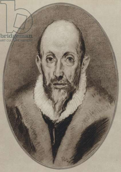 Portraits of Great Painters: El Greco (litho)