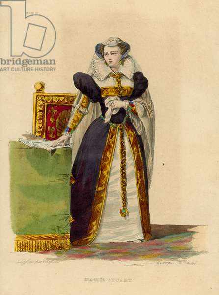 Marie Stuart (coloured engraving)