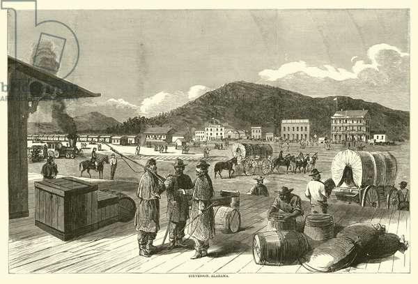 Stevenson, Alabama, August 1863 (engraving)