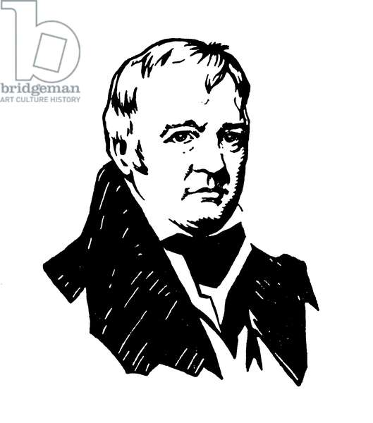 Sir Walter Scott (colour litho)