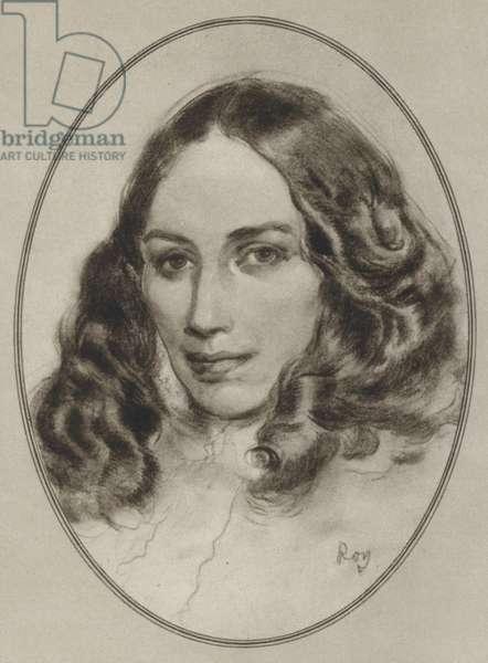 Elizabeth Barrett Browning (litho)