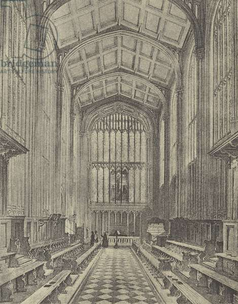 The Chapel, looking East, 1844 (gravure)