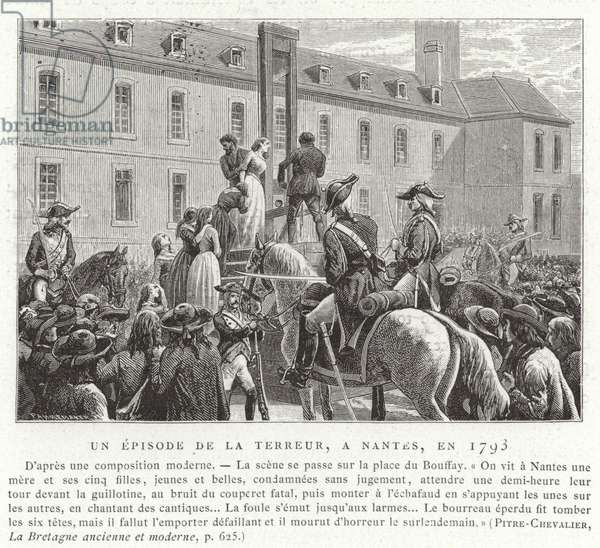 An episode during the Reign of Terror, French Revolution, Nantes, 1793 (engraving)