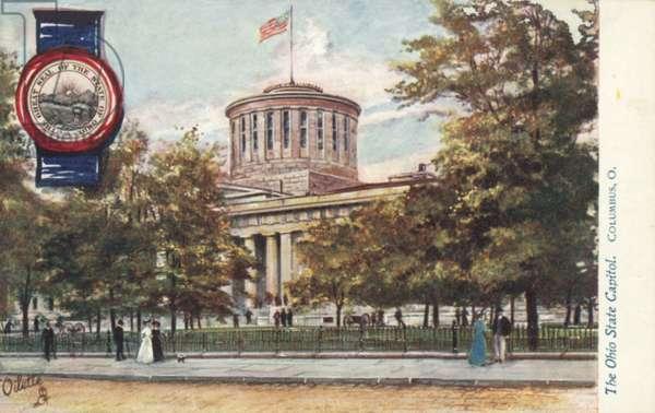 The Ohio State Capitol, Columbus, Ohio (colour litho)