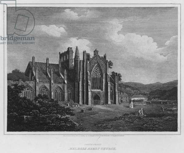 South Front, Melrose Abbey Church (engraving)