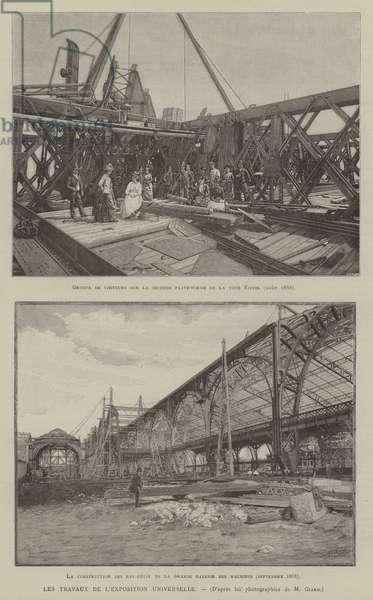 Les Travaux de L'Exposition Universelle (engraving)