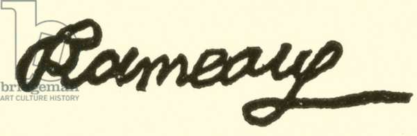 Jean Philippe Rameau, 1683-1764, signature (engraving)