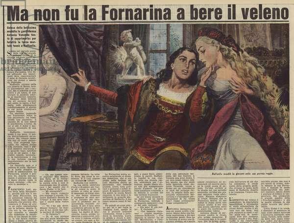 Ma non fu la Fornarina a bere il veleno (colour litho)