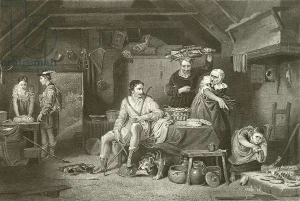 Alfred in the Neatherd's Cottage (engraving)