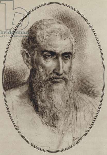 Portraits of Great Philosophers: Epicurus (litho)