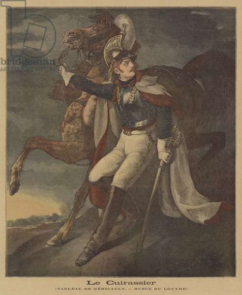 The Wounded Cuirassier (colour litho)