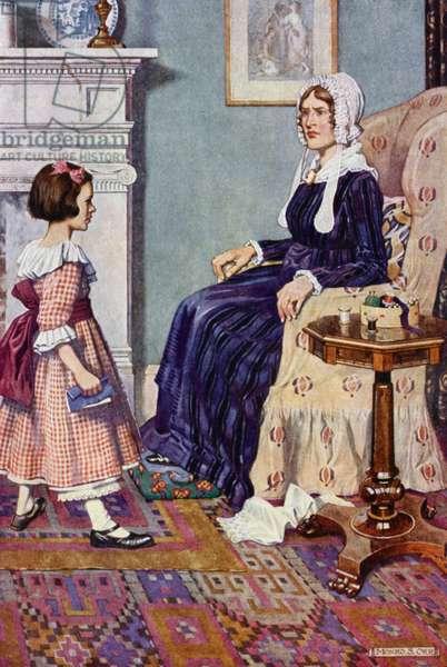 Illustration for Jane Eyre (colour litho)