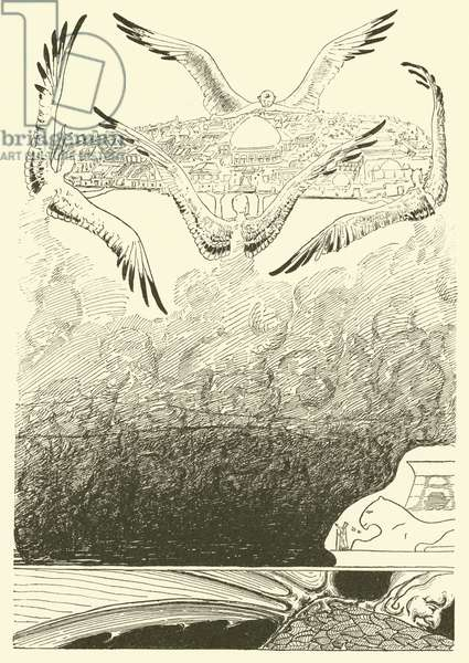 The Four Gull-winged Djinns (engraving)