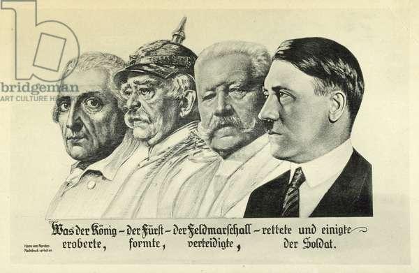 Nazi propaganda postcard, 1933 (litho)