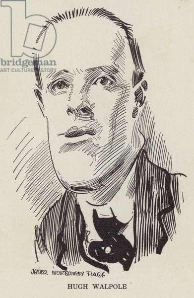Hugh Walpole, English novelist (litho)