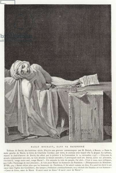 The Death of Marat, 1793 (engraving)