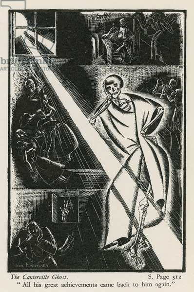 The Canterville Ghost (woodblock)