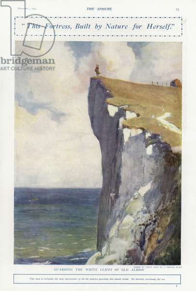 Guarding the White Cliffs of Old Albion, World War I (colour litho)