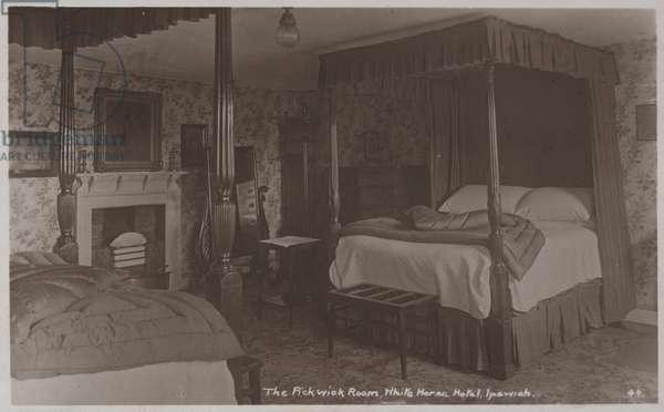 The Pickwick Room, White Horse Hotel, Ipswich (b/w photo)