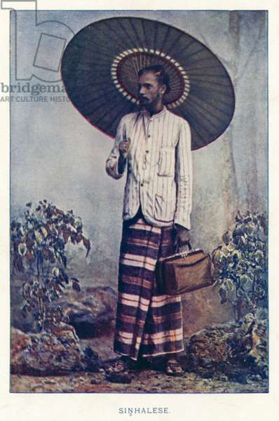 Indian Natives: Sinhalese (coloured photo)