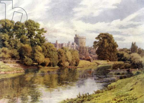 Windsor Castle (colour litho)
