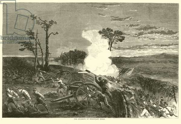 The storming of Missionary Ridge, November 1863 (engraving)