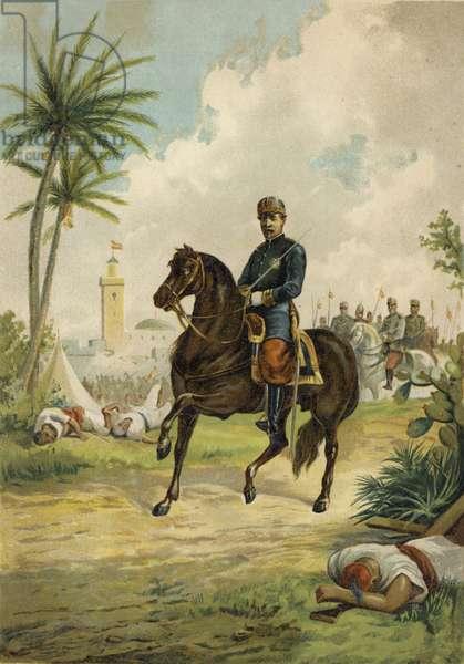 Leopoldo O'Donnell, 1st Duke of Tetuan, Spanish general and politician (chromolitho)