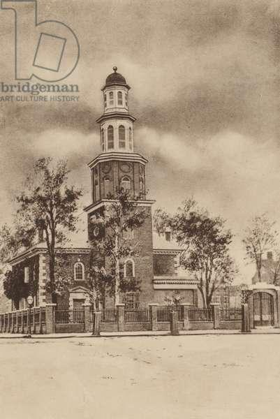 Christ Church, Alexandria, Virginia (b/w photo)