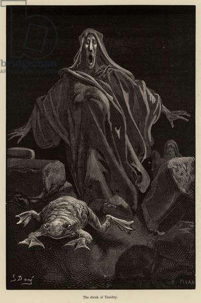 The shriek of Timidity (engraving)