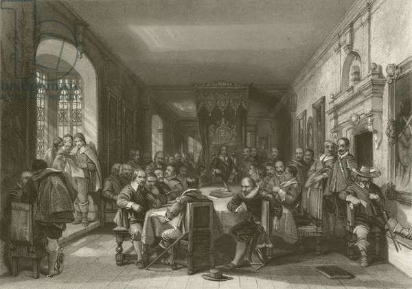 Conference at the Isle of Wight (engraving)