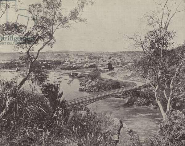 Launceston, Tasmania (b/w photo)