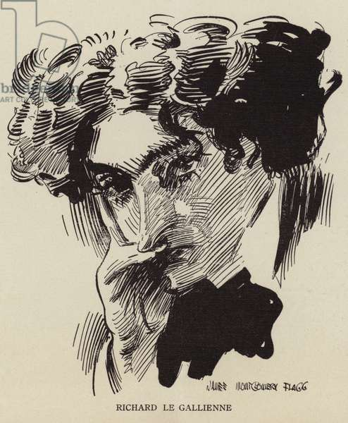 Richard Le Gallienne, English writer and poet (litho)