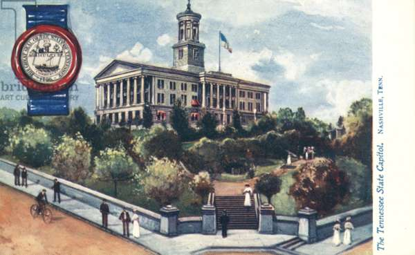 The Tennessee State Capitol, Nashville, Tennessee (colour litho)