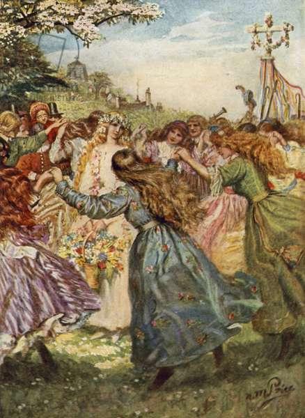Tennyson, The May Queen (colour litho)