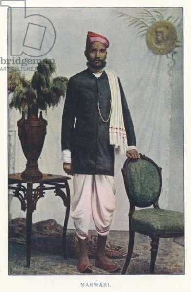 Indian Natives: Marwari (coloured photo)