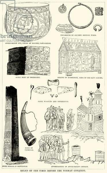 Relics of the Times before the Norman Conquest (engraving)