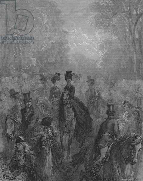 Hyde-Park, Le Lady's Mile, Promenade Des Dames (engraving)
