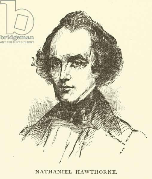 Nathaniel Hawthorne, American novelist and short story writer (engraving)