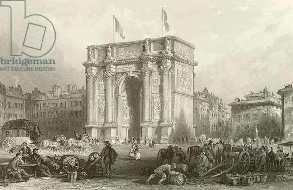 Arch of Triumph, Marseilles (engraving)