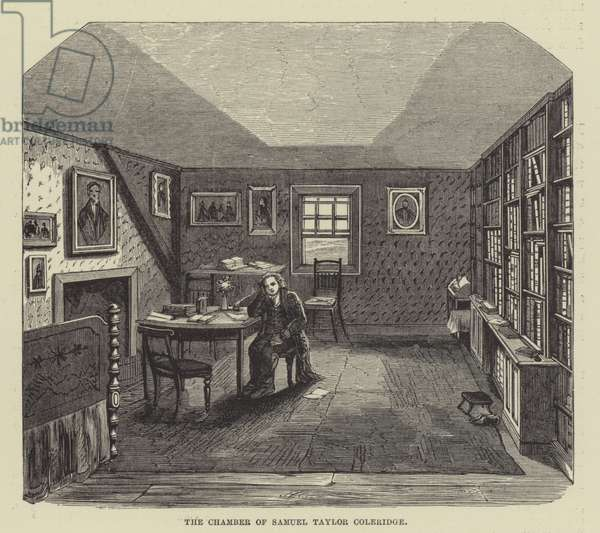 The chamber of Samuel Taylor Coleridge (engraving)