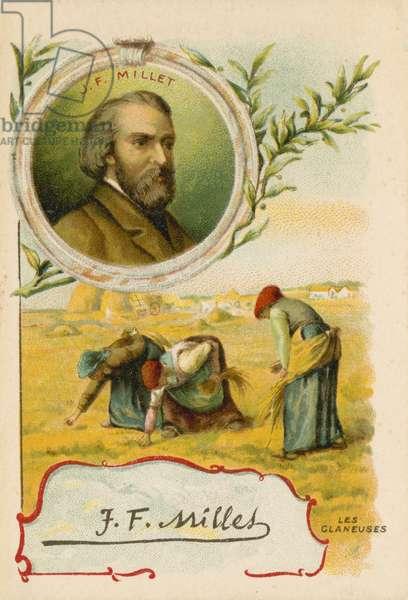 Jean-Francois Millet, French artist (chromolitho)