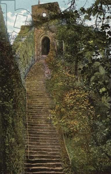 Steps to the Keep, Carisbrooke Castle (photo)
