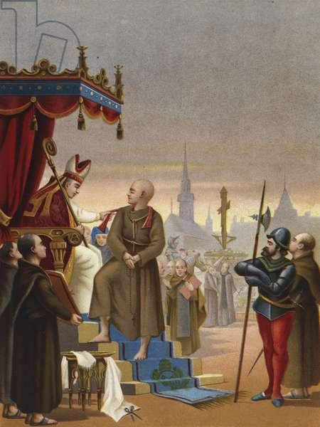 The degradation of Girolamo Savonarola, 1498 (chromolitho)