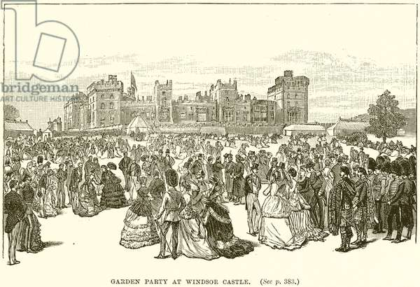Garden Party at Windsor Castle (engraving)