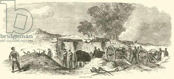 Building works, June 1864 (engraving)